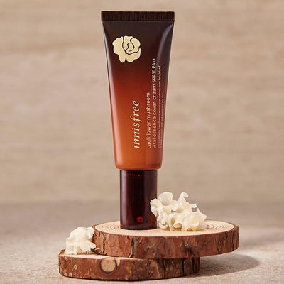innisfree cauliflower mushroom essence cover cream SPF30 PA++