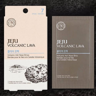 THE FACE SHOP Jeju Volcanic Lava Volacanic Ash Nose Strips 7 sheets