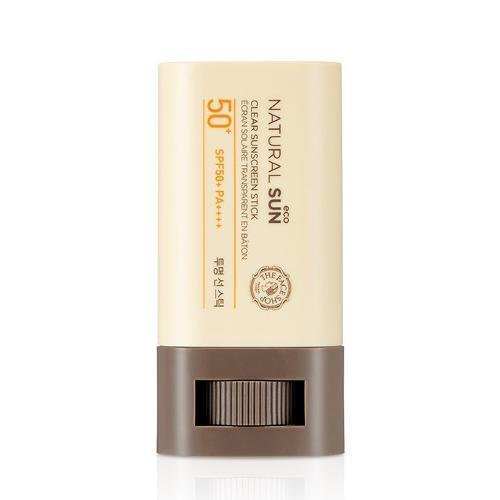 THE FACE SHOP Natural Sun Eco Clear Sunscreen Stick SPF50+ PA+++
