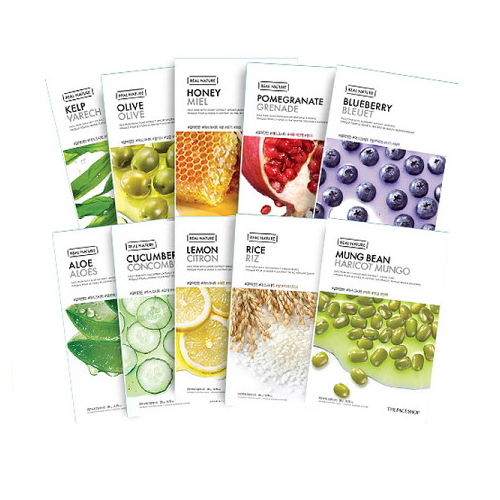 THE FACE SHOP Real Nature Face Mask 10 kinds Set