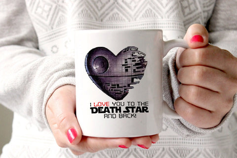 I Love You to The Death Star and Back Mug