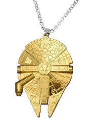 Gold Plated Millennium Falcon Necklace