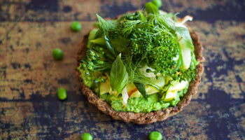Green Tart with Charred Vegetables