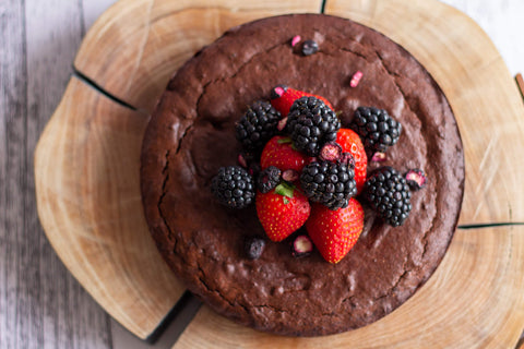 Freya's Nourishment Flourless Chocolate Cake with Berries