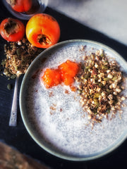 Warm Chia Pudding with Spiced Granola