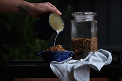 Granola with coconut milk
