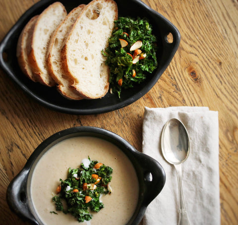 Kale soup topper