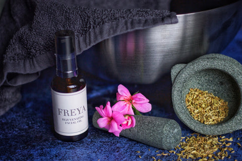 Rose Geranium & Fennel Facial Steam by Freya's Nourishment