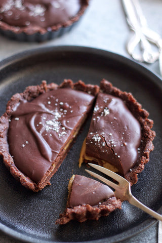 "Salted Caramel Chocolate Tart from Freya's Nourishment ""Nourishing Treats"" ebook"