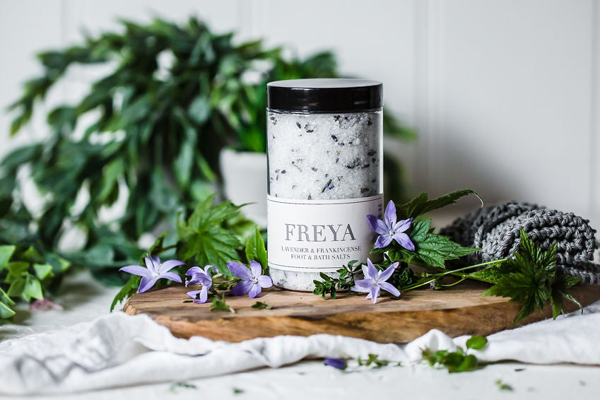 Lavender and Frankincense Bath and Foot Salts - Freya's Nourishment