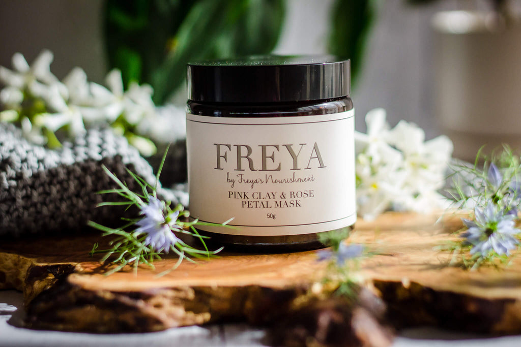 Pink Clay and Rose Petal Mask - Freya's Nourishment