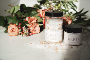 Rose and Pomegranate Bath and Foot Salts