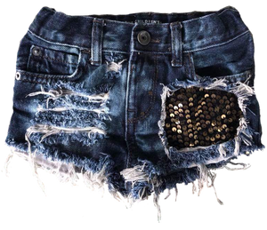 Bella Sequin Denim Shorties