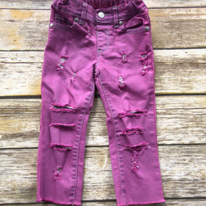 Pink Distressed Denim READY TO SHIP