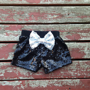 Black Sparkle Shorties