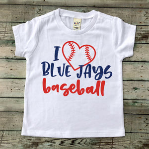 I Love Blue Jays Baseball