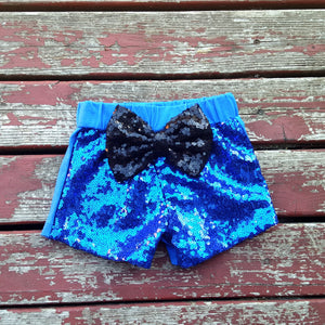 Blue Sparkle Shorties