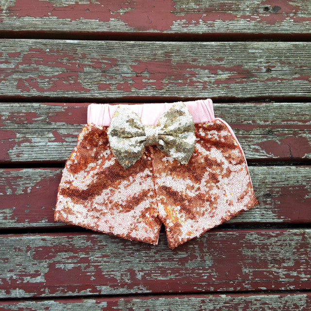 Peach Sparkle Shorties