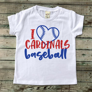 I Love Cardinals Baseball