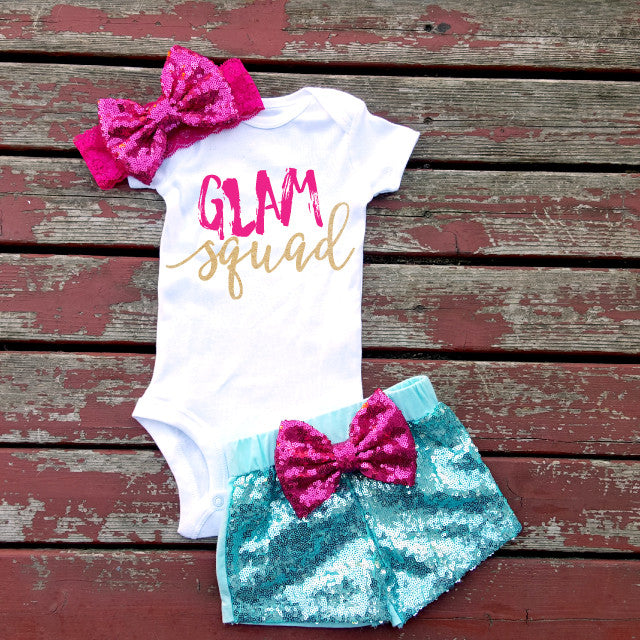 Glam Squad Baby Girl Bodysuit/Top