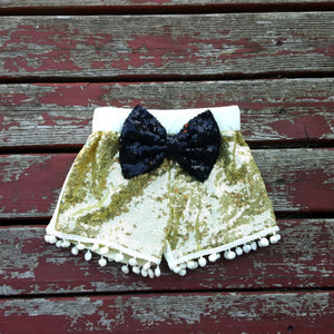 Gold Sparkle Shorties