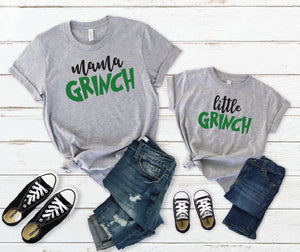 Mama and Me Grinch Tees