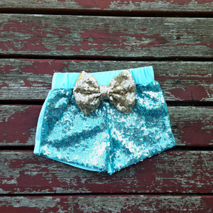 Mint Sparkle Shorties