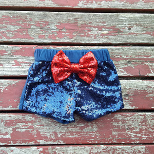 Navy Sparkle Shorties