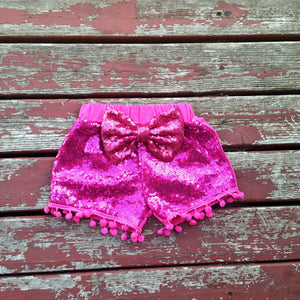 Pink Sparkle Shorties