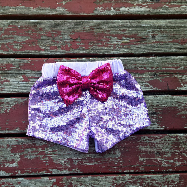 Purple Sparkle Shorties