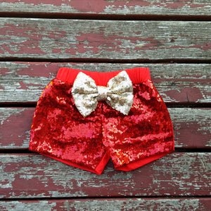 Red Sparkle Shorties