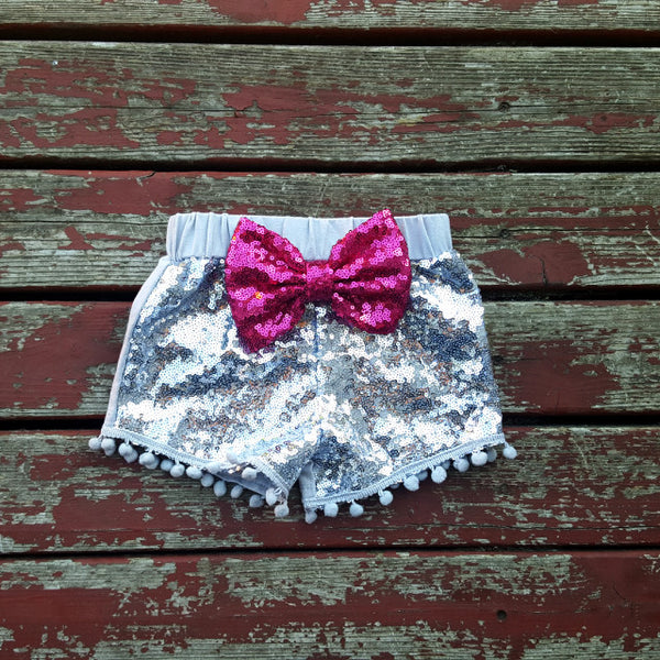 Silver Sparkle Shorties