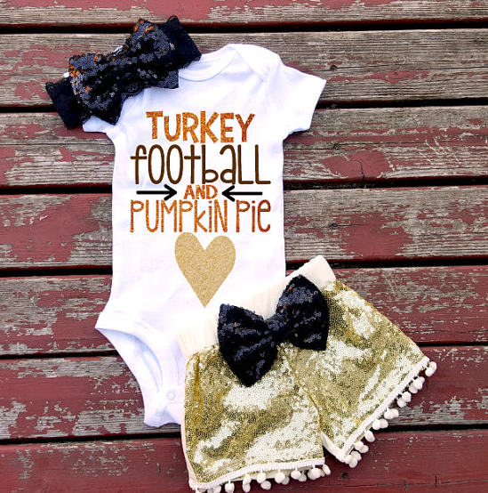 Turkey Football and Pumpkin Pie
