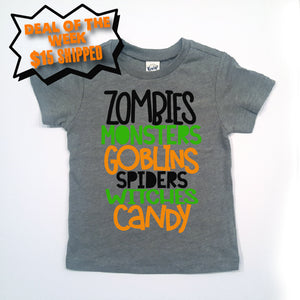 Zombies Monsters Goblins Tee DEAL OF THE WEEK