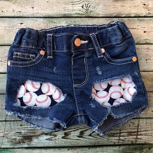 Baseball Denim Shorties