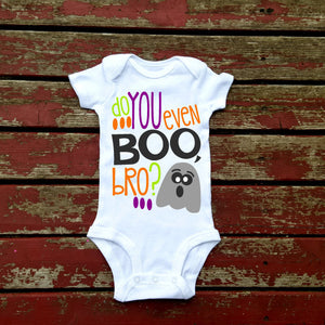 Do You Even Boo Bro Bodysuit, Baby Boy, Boys, Toddler, Baby Girl, Halloween, Happy Halloween, Ghost, Pumpkin, Witch, Scary