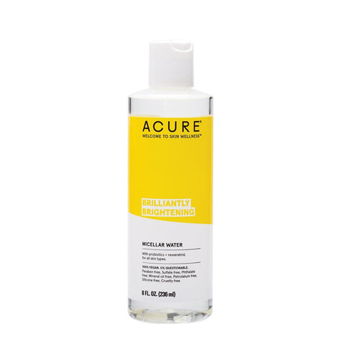 Natural & Organic Cleanser. Acure Brilliantly Brightening Micellar Water 236ml - One Fine Secret