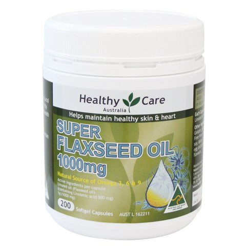 Healthy Care Super Flaxseed Oil 1000mg 200 Capsules