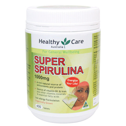 Healthy Care Super Spirulina 400 Tablets