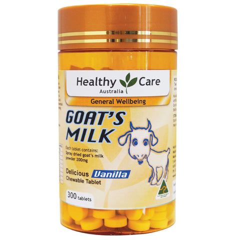 Healthy Care Goat Milk Vanilla Flavour 300 Chewable Tablets