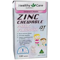 Healthy Care Zinc Milk Flavour 120 Chewable Tablets