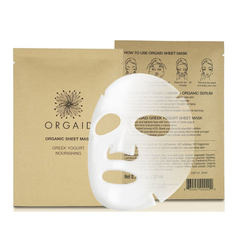 Innovative Organic Sheet Mask (Ecoderma) made in the USA. Orgaid Greek Yogurt & Nourishing Organic Sheet Mask - One Fine Secret