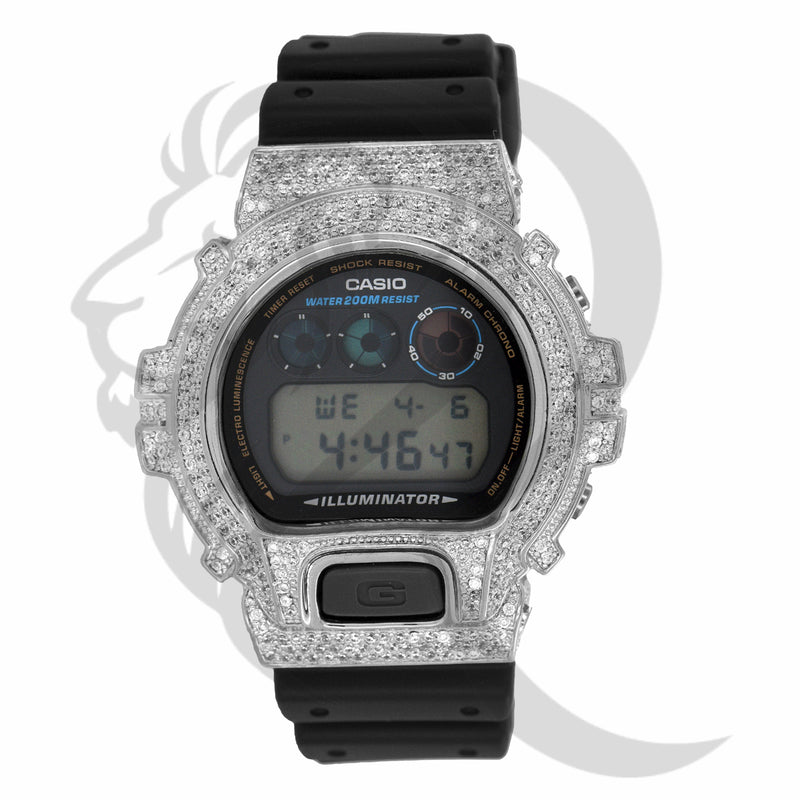 White IcedOut Custom Bezel DW6900 G-Shock Watch