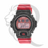 Red Glossy Strap Black IcedOut Bezel DW6900 G-Shock Watch