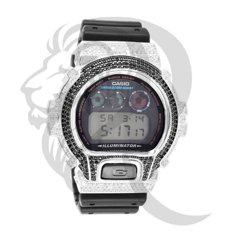 Two-Tone IcedOut Custom DW6900 G-Shock Watch