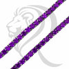 "4MM 18""-24"" Black Tone Purple Simulated Diamonds 1 Row Tennis Chain"
