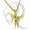 IcedOut Winged Angel With Crown Religious Pendant