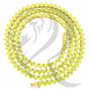 "3MM 18""-24"" Yellow Canary 3 Prong Simulated Diamonds 1 Row Tennis Chain"