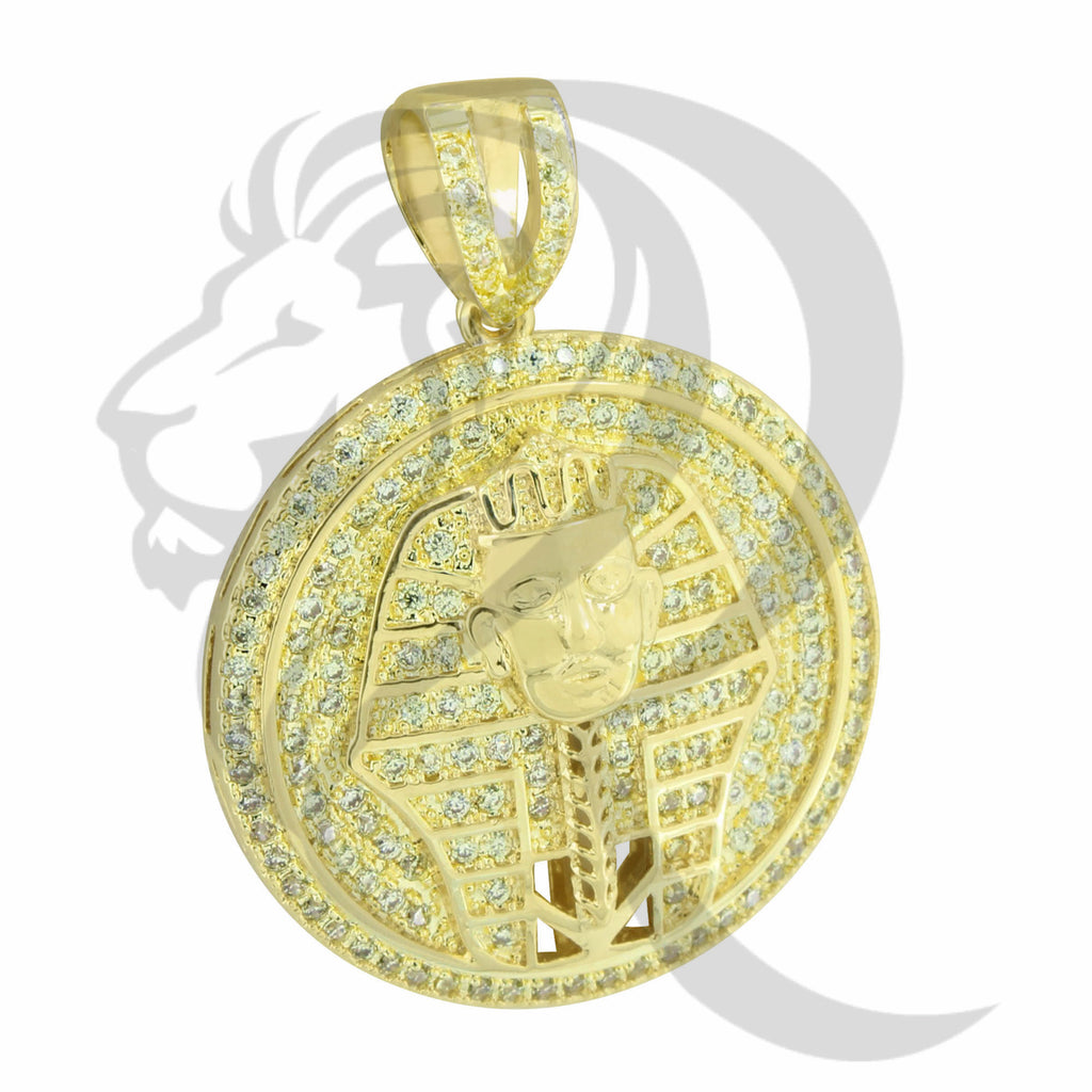 Canary Round Circle Egyptian Pharaoh God Medallion Pendant