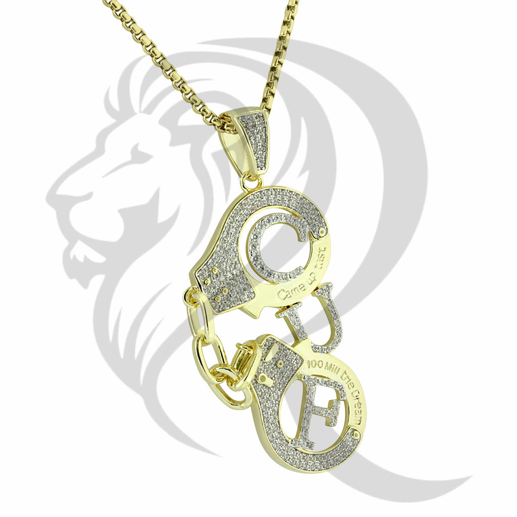Law Enforcement Handcuffs Came Fast IcedOut Pendant
